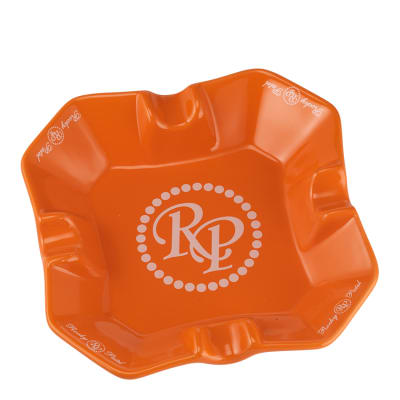 Rocky Patel Desktop Square Orange Ashtray - AT-RP-SQORG