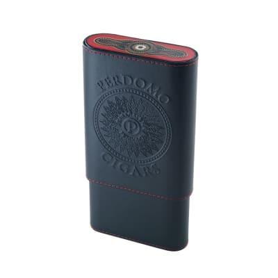 Perdomo Leather Cigar Case - CC-PER-4COUNT