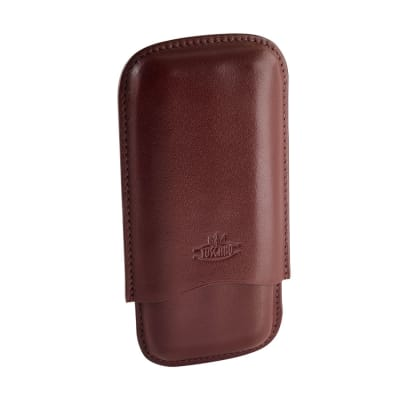 Toscano 3 Finger Leather Cigar Case - CC-TOS-LONG