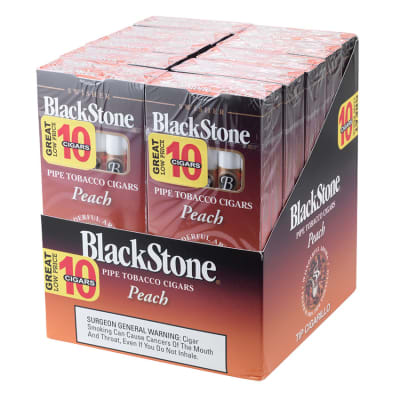 Blackstone by Swisher Peach Tip 10/10 - CI-BLK-PEAPK