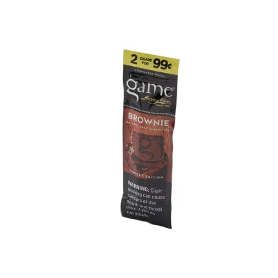 Garcia y Vega Game Cigarillos Brownie (2)-CI-GCI-BROW99Z - 400