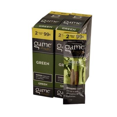 Garcia y Vega Game Cigarillos Green 30/2-CI-GCI-GRNUP99 - 400