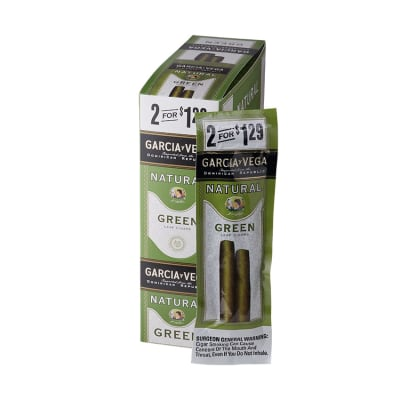 Garcia y Vega Natural Green Cigarillos 15/2 - CI-GYV-GRN129