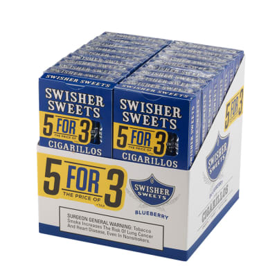 Swisher Sweets Cigarillos 5 for 3 Blueberry 20/5 - CI-SWI-53BLUE