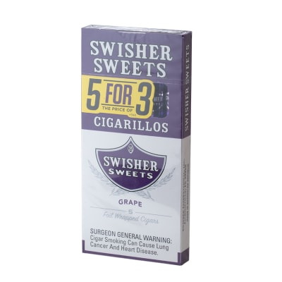 Swisher Sweets Cigarillos 5 for 3 Grape (5) - CI-SWI-53GRAPZ