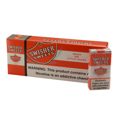 Swisher Sweets Little Cigars Peach 10/20 - CI-SWI-LCPEAPK