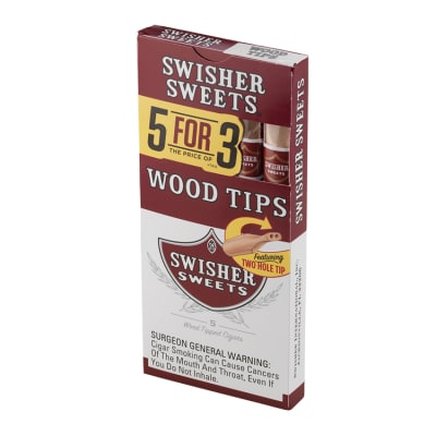 Swisher Wood Tip 5 Pack-CI-SWI-WT15PKZ - 400