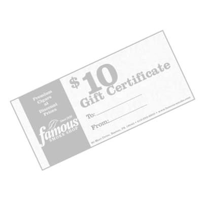 $10.00 Gift Certificate - GC-FGC-0010