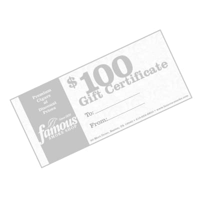 $100.00 Gift Certificate - GC-FGC-0100