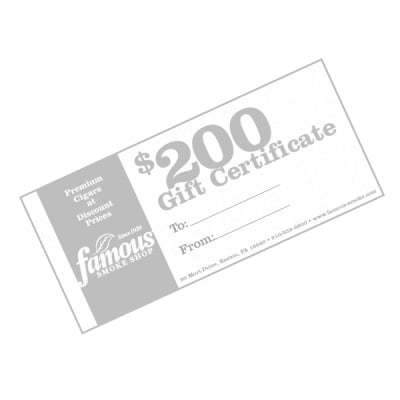 $200.00 Gift Certificate-GC-FGC-0200 - 400