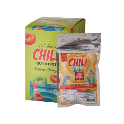 Chill Plus CBD Infused Sour Bears 12 Packs-HE-CGB-SOURB - 400