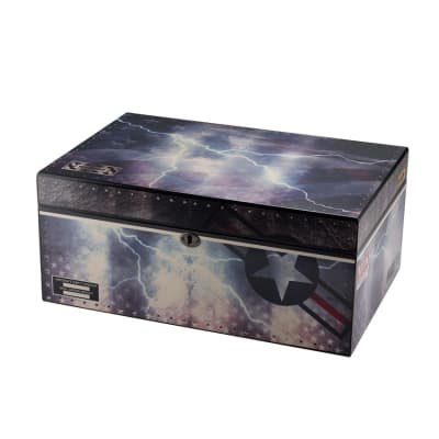 Quality Importers Fighter Jet 100 Count Humidor - HU-QIT-AFLG