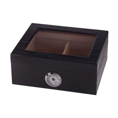 Capri Glass Top Black Oak - HU-QIT-CAPGLBLK