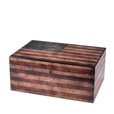 Quality Importers Old Glory 100 Count Humidor - HU-QIT-OLDGLORY