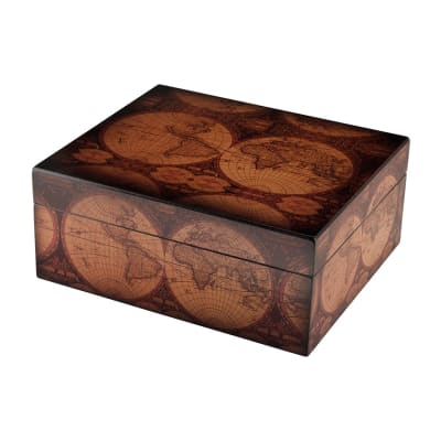 Old World 50 Count Humidor - HU-QIT-OW50