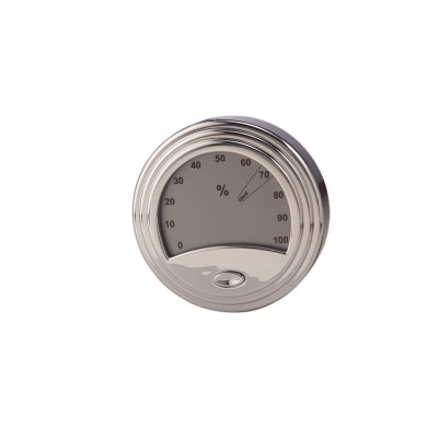 Analog Style Silver Digital Hygrometer - HY-DON-1539S