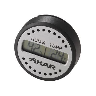 Xikar Round Digital Hygrometer-HY-XHU-830XI - 400