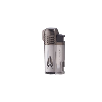 Lotus Defiant Lighter Chrome Satin & Dark Gunmetal Satin-LG-LTS-DEFCHGN - 400