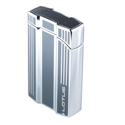 Lotus Intrepid Double Flame with Cigar Punch Gun Metal-LG-LTS-INTGUN - 400