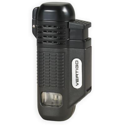 Vertigo Equalizer Quad Flame Lighter Black-LG-VRT-EQUABK - 400