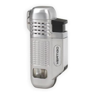 Vertigo Equalizer Quad Flame Lighter Silver - LG-VRT-EQUASLV