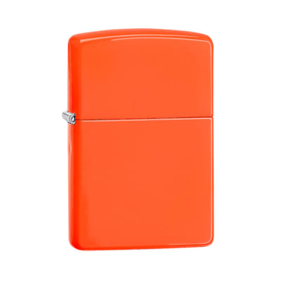 Zippo Lighter Neon Orange - LG-ZIP-28888