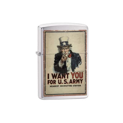 Zippo I Want You For U.S. Army - LG-ZIP-29595