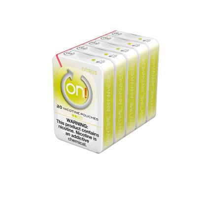 ON! Citrus 2MG (5 Tins)-NP-ON!-CIT2MG - 400