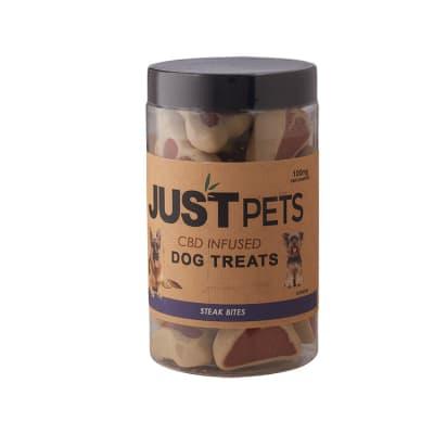 Just CBD Just Pets Dog Treats Steak Bites 100mg - PT-JUS-DSTEAK