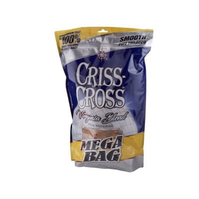 Criss Cross Mega Bag Smooth Pipe Tobacco 16 ounce - TB-CRI-MEGSMT16